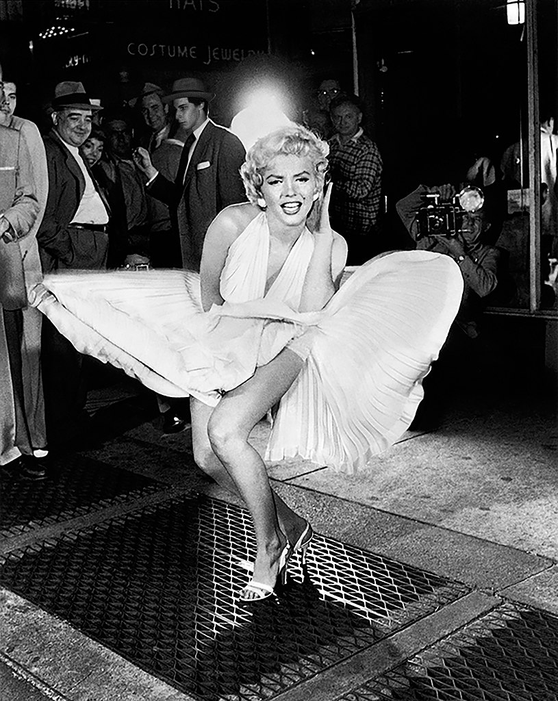 Marilyn Monroe, 1954 (Photo by Sam Shaw via Wikimedia)