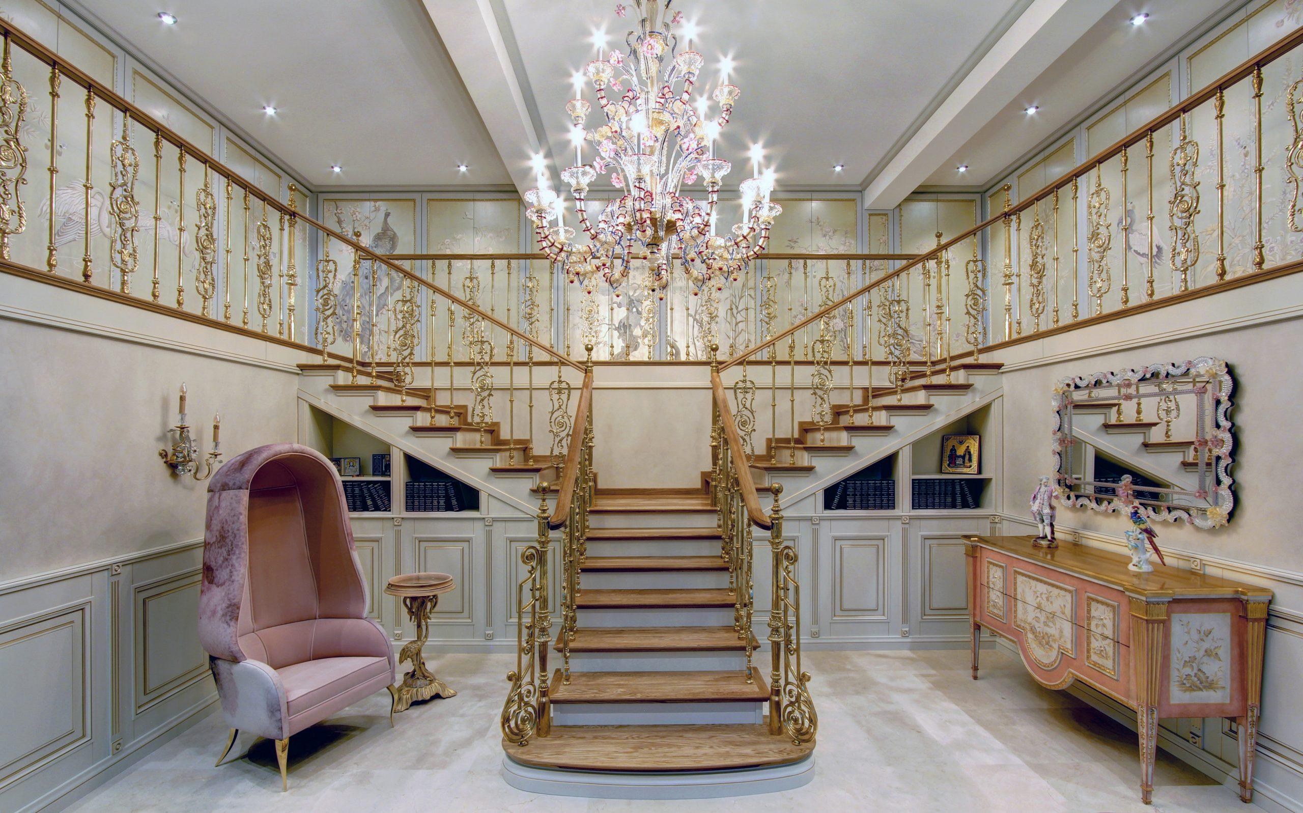 Svetlana Khristoforova KRAFT Foyer Staircase ornate luxury country house design inspiration