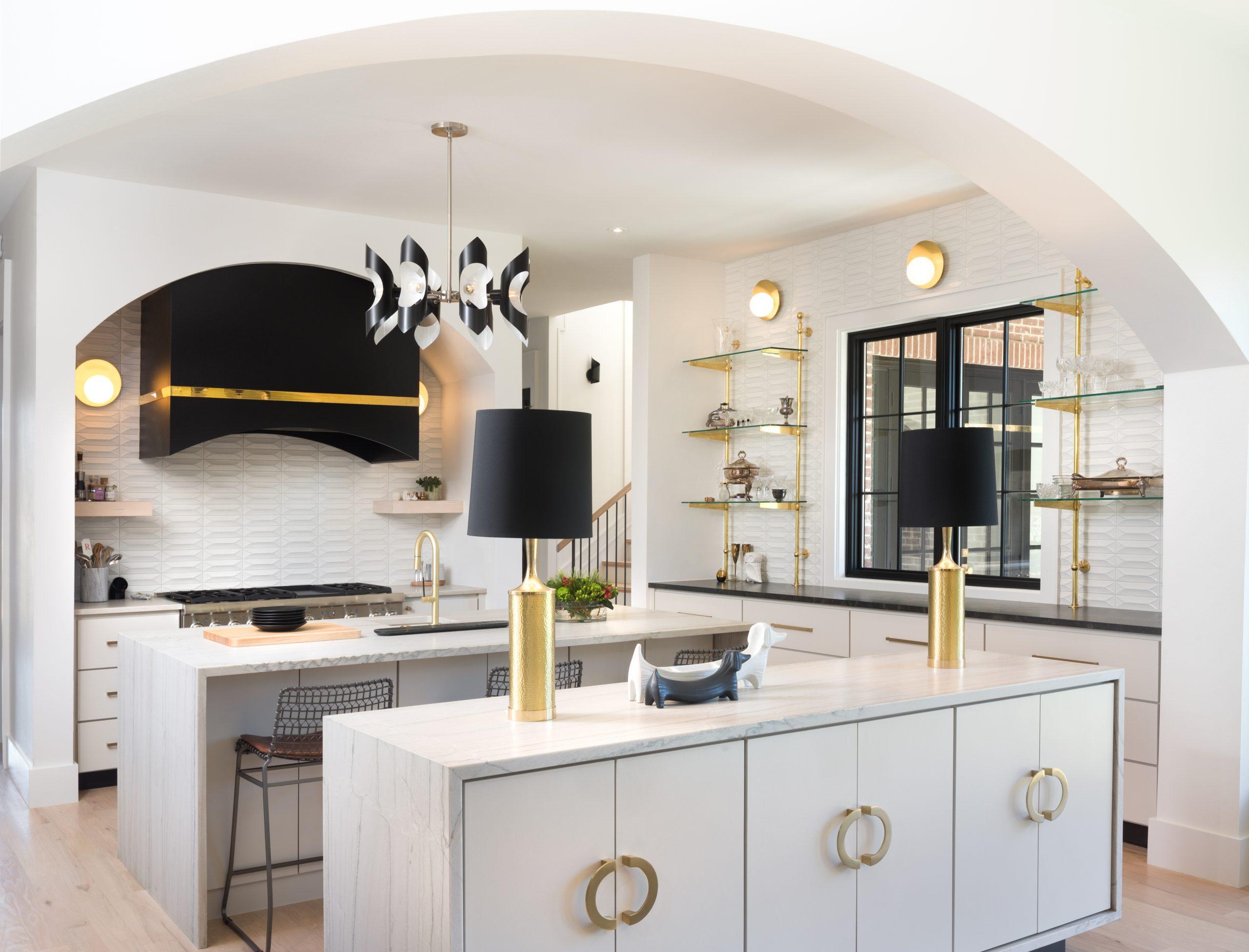 black and white luxury open space kitchen design ideas maestri studio