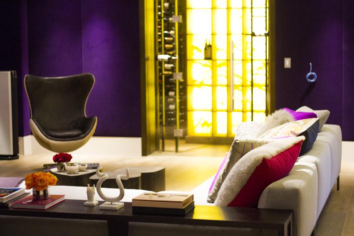 Noda Designs Noor Voon CINEMA design luxury theater design ideas purple