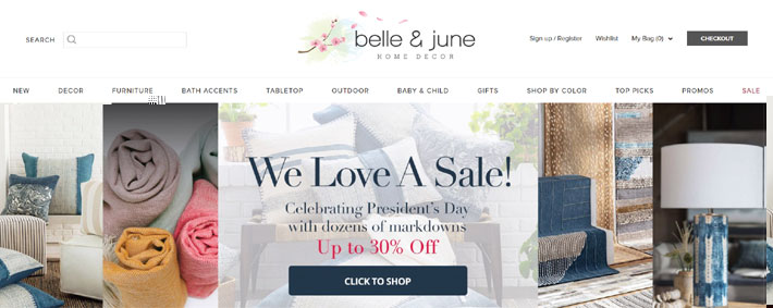 belle and june home decor online site