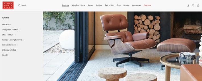 design within reach authentic mid-century modern furniture online