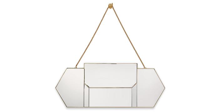 egoist mirror koket art deco design brass hand