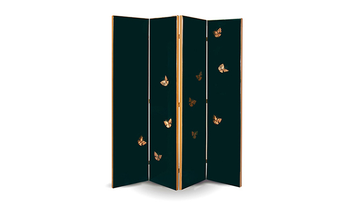 koket euphoria floor screen emerald green butterflies luxury interior design