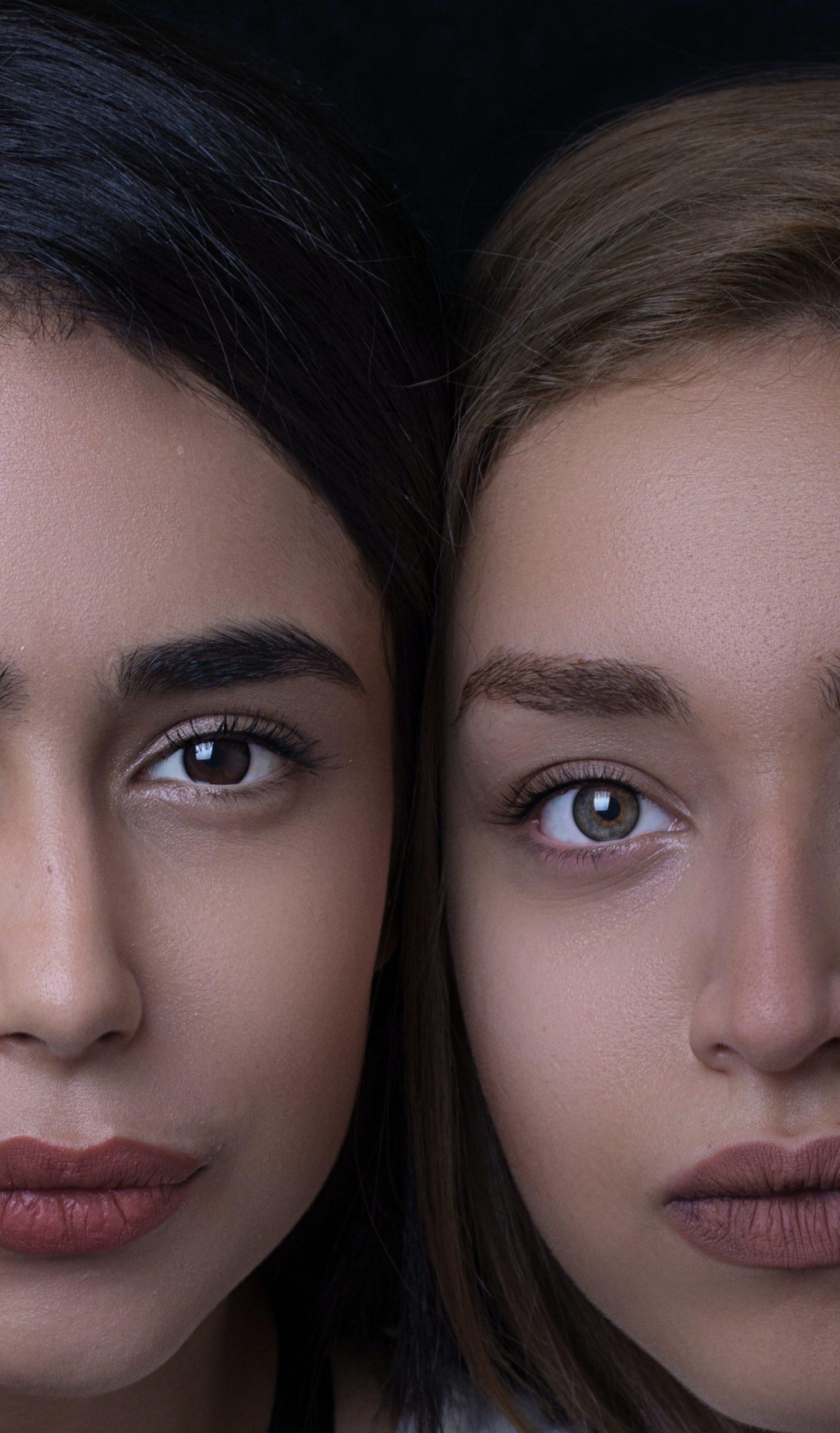 close up 2 beautiful women faces hadis safari unsplash