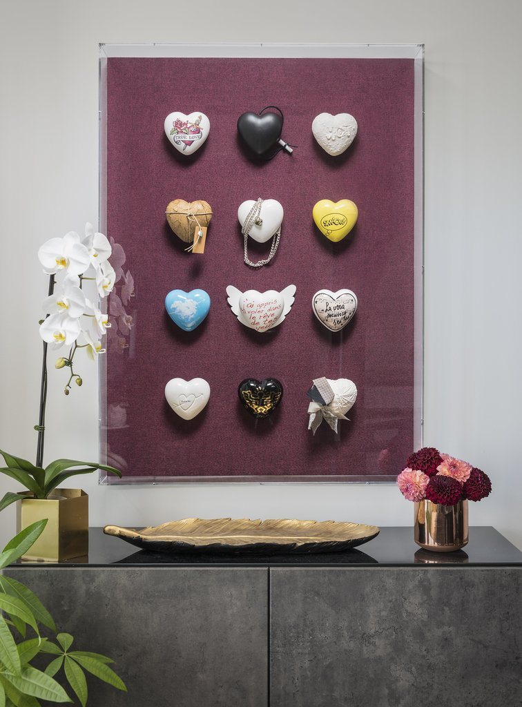 CUORE HEART ceramic heart artworks made in italy