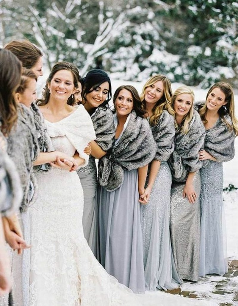 ice cold silver winter wedding theme