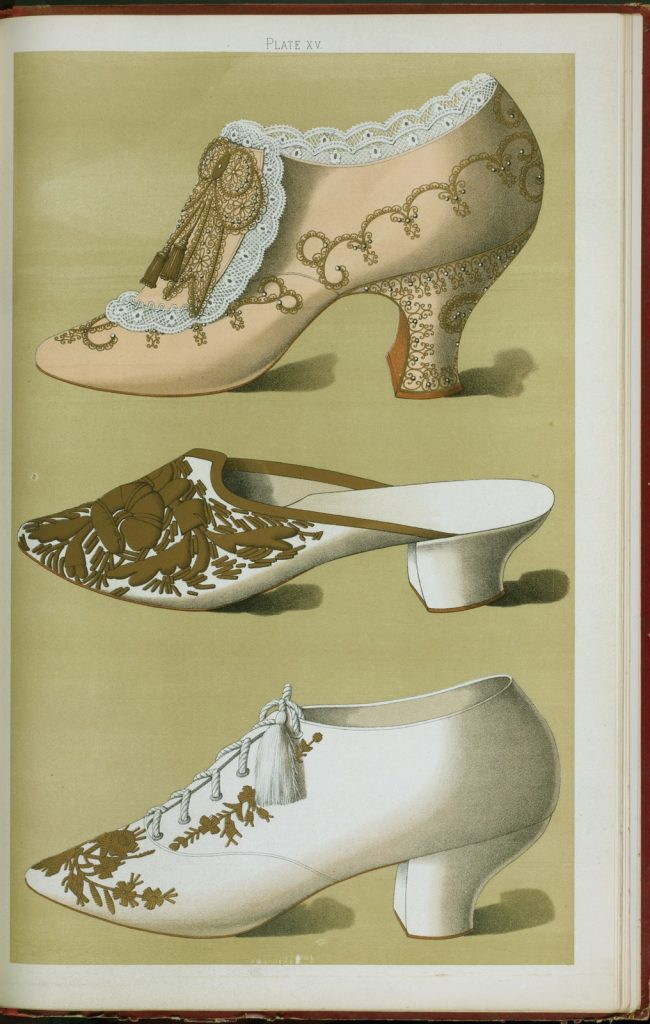 history of heels Victoria Era shoe drawings by Greig, T. Watson, 1900 (Photo via the New York Public Library)