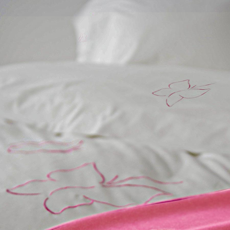 luxe kids isabel butterfly pink bed linens