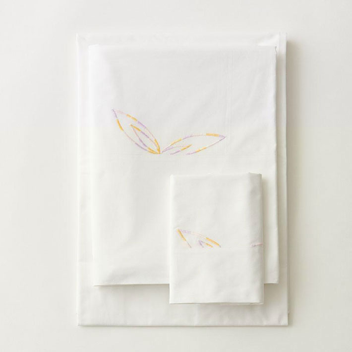 luxe kids flower embroidery bed linens