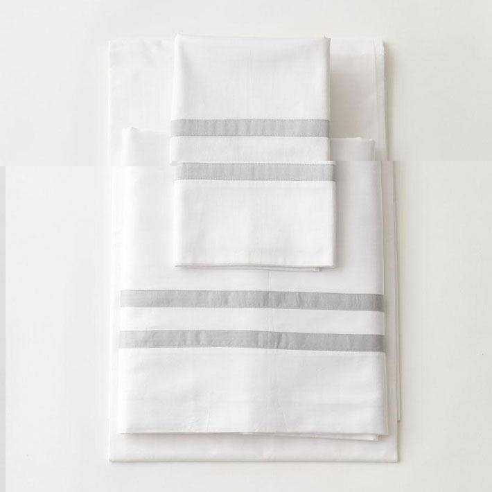 luxe kids skye grey striped sheets luxury kids bedding