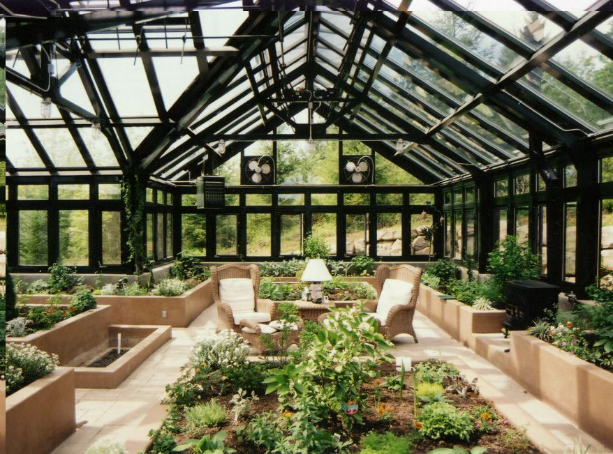 Luxury greenhouse by Meridian Estate Greenhouses