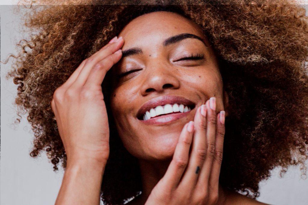 beautiful black woman clean clear skin