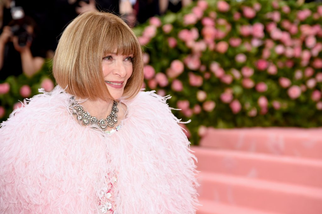 fashion empowered women Anna Wintour attends The 2019 Met Gala Celebrating Camp: Notes on Fashion at Metropolitan Museum of Art on May 06, 2019 in New York City. (Photo by Jamie McCarthy/Getty Images)