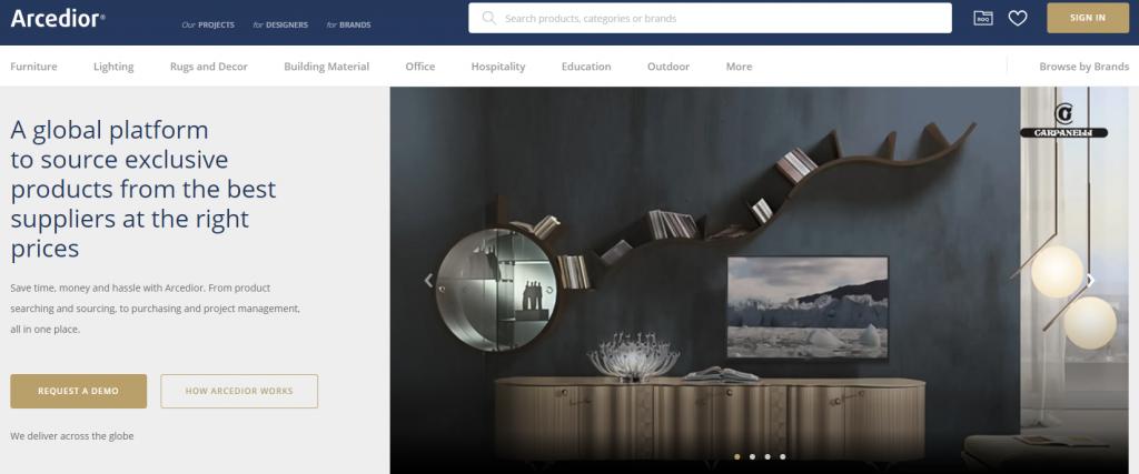 arcedior interior product sourcing design resource