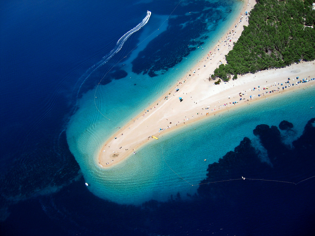 secret european beaches post-covid travel ideas Zlatni Rat (the Golden Horn) beach in Croatia (Photo by Szabolcs Emich)