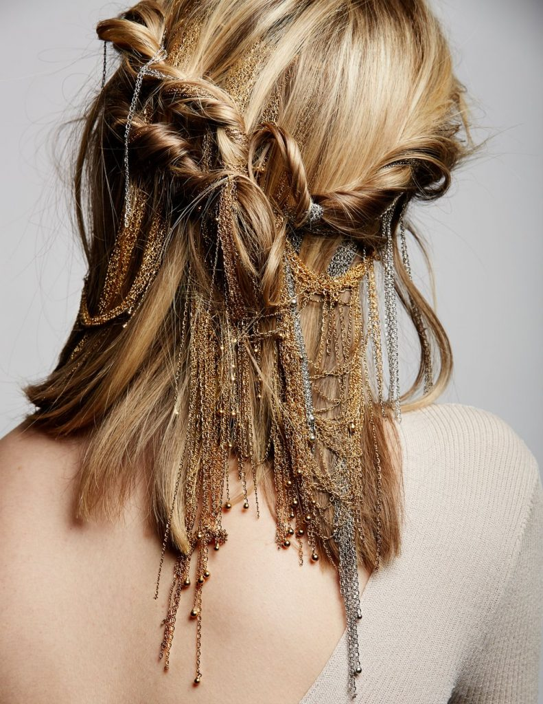 luxury hair accessory Mixed Metals: A collaboration between Lelet NY and Adir Abergel for functional fashion-forward hair jewelry that stands out in the crowd