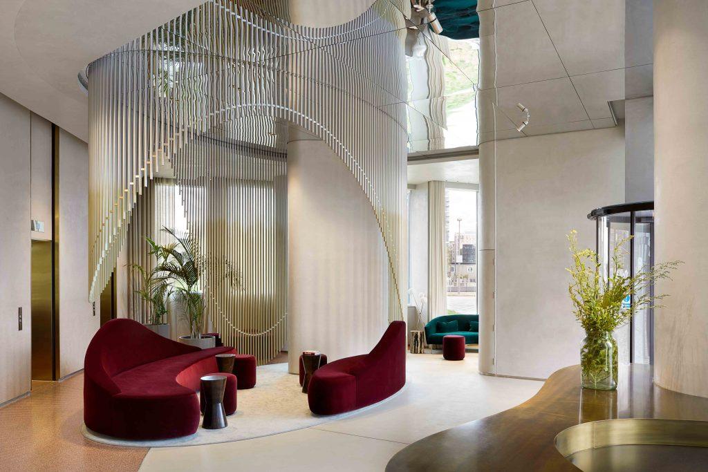 Greenwich Peninsula lobby design by DH Liberty