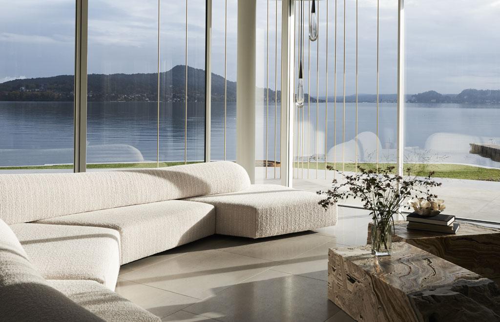 luxury lake como villa living room by Design Haus Liberty (Photos by Adrien Dirand)