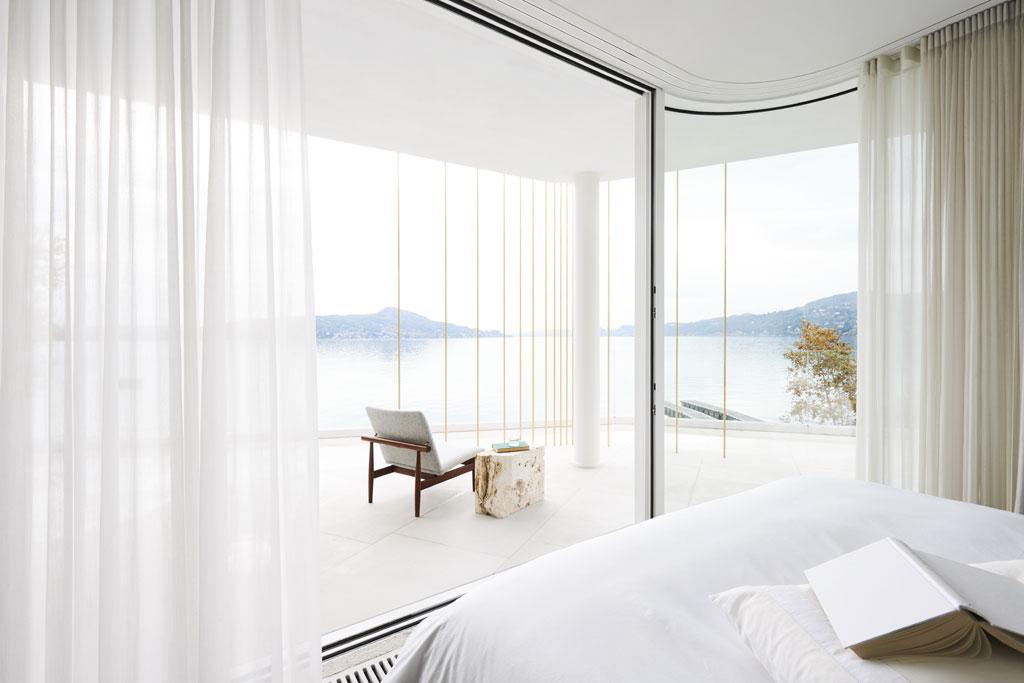 luxury lake como villa bedroom by Design Haus Liberty (Photos by Adrien Dirand)