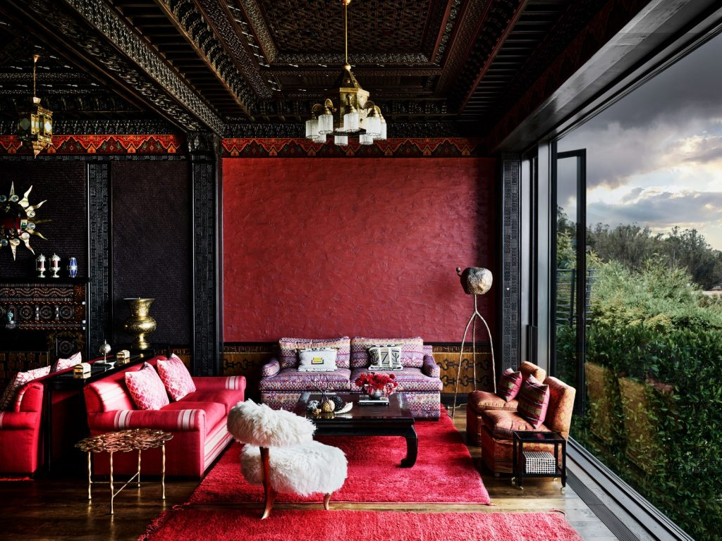 Featured in AD, this stunning photo by Douglas Friedman features a Moroccan-style lounge at the rear of a historic San Francisco mansion designed by the one and only Peter Marino!