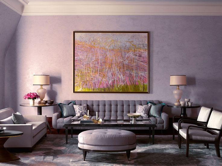 Drake-Anderson - Upper West Side Residence -pink-living-rooms-living-spaces