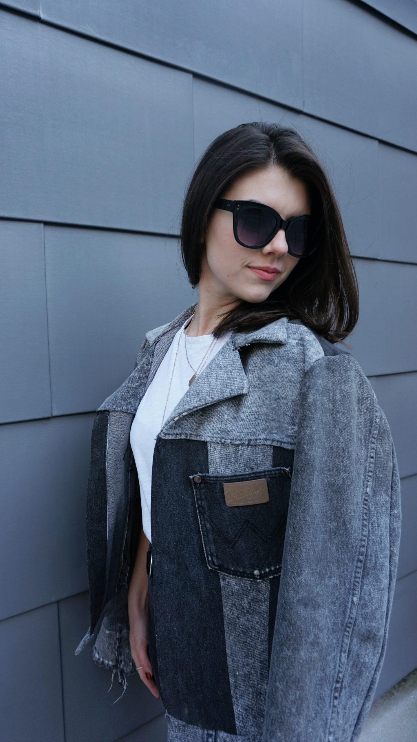 Mattney Yates upcycled jean jackets patchwork