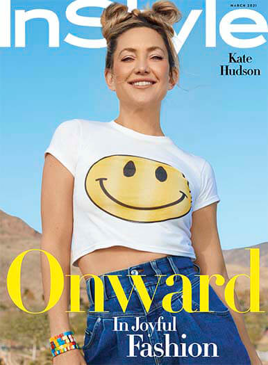 magazines for women InStyle Cover Kate Hudson March 2021