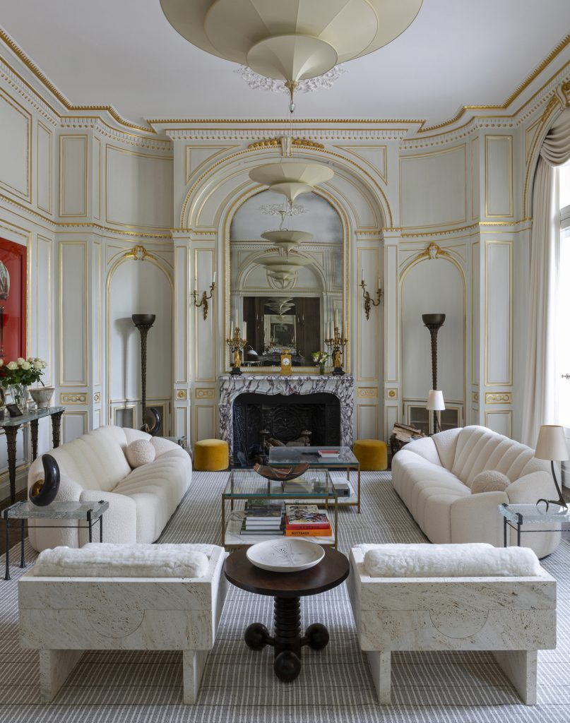 Photo by James McDonald of a saloon in a Paris townhouse, designed by Bryan O'Sullivan Studio
