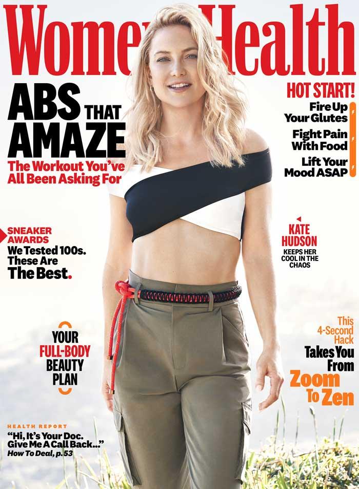 Kate Hudson Womens Health Magazines April 2021 Issue Fitness Health Tom Lorenzo