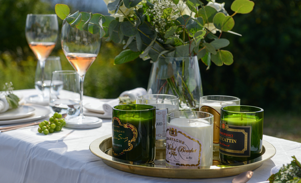 Luxury Sparkle Champagne Candles Photo_Kerze