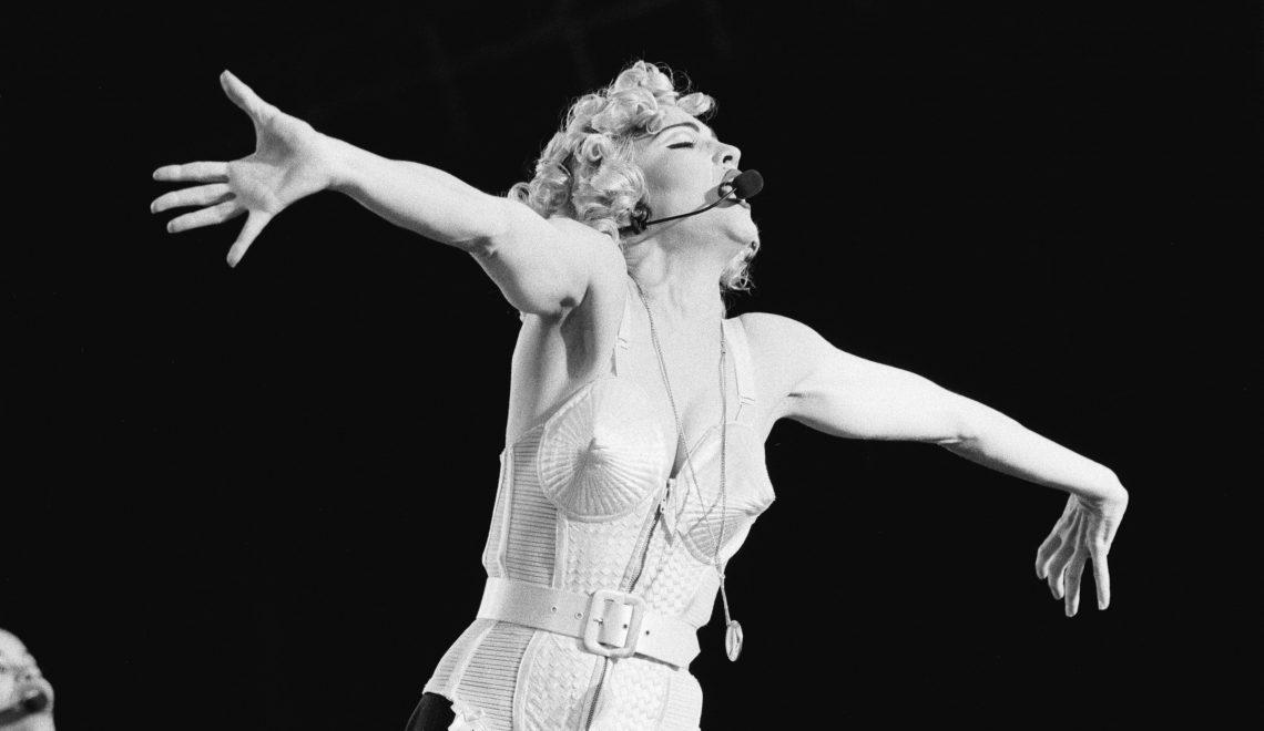 Madonna singer 1990 jean paul gauthier cone bra Photo by Frans Schellekens/Redferns)