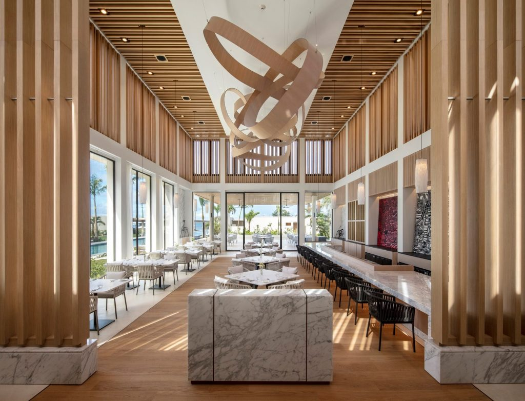 Photo by Magda Biernat of the Asiatique restaurant at Silversands Grenada designed by AW²