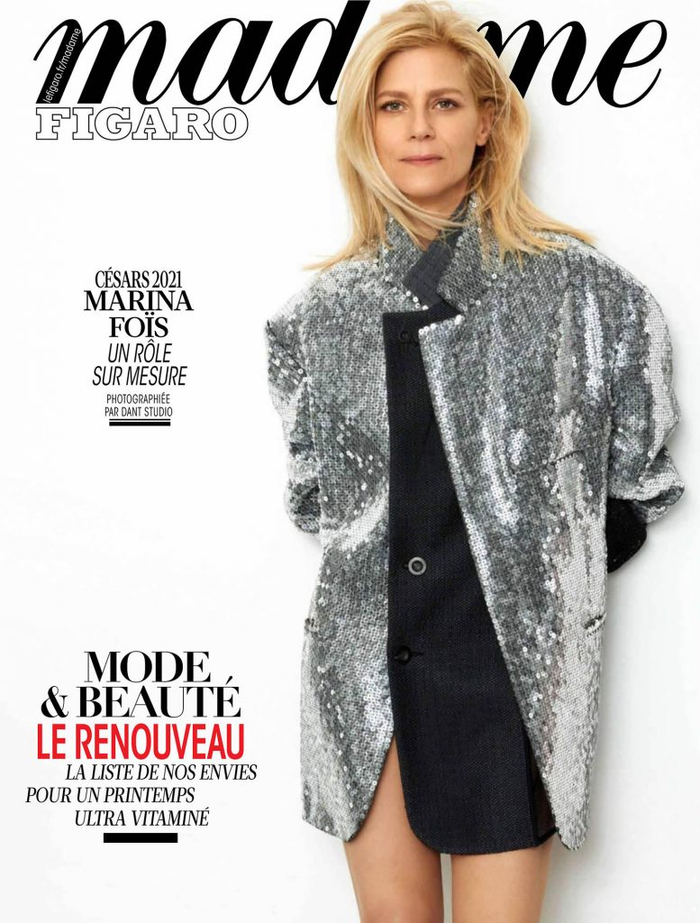magazines for women Marina Fois cover march 12th 2021 Madame Figaro by Dant Studio