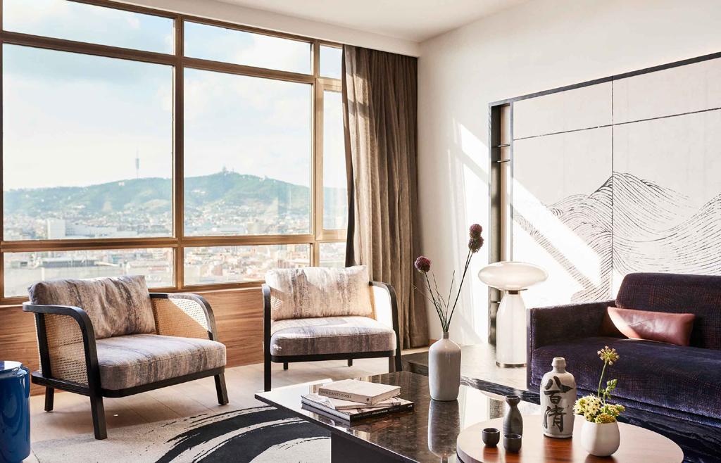 Nobu Hotel Barcelona, Spain japanese inspired design