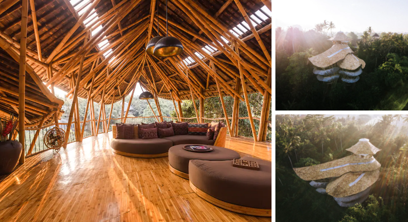 unique travel destinations Sharma Springs Bamboo Mansion bali (Photos from Airbnb)