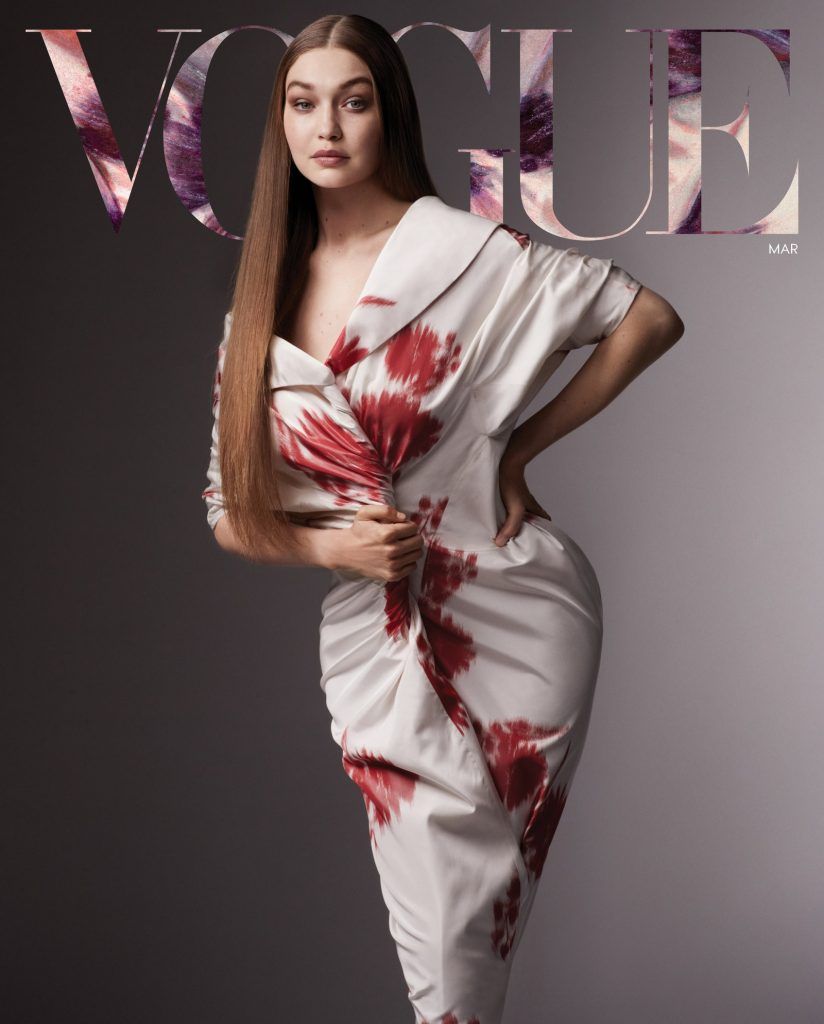Magazines for women Vogue Cover March 2021 Gigi Hadid