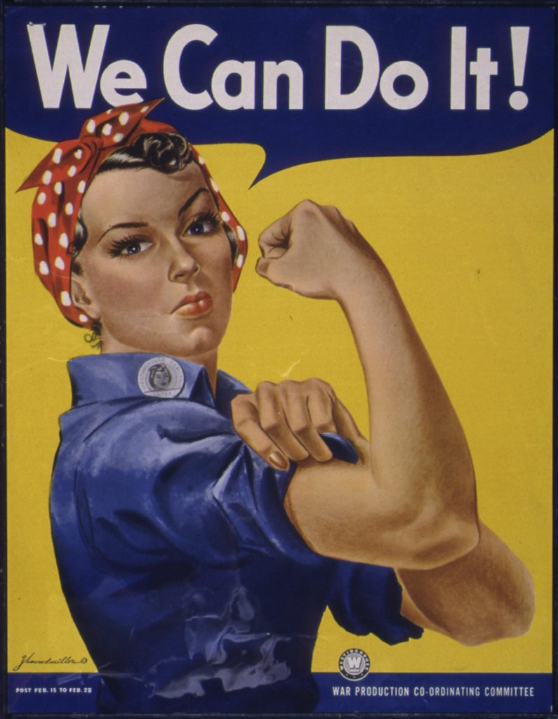 Rosie the Riveter Poster 1942-43 (Photo via The U.S. National Archives)