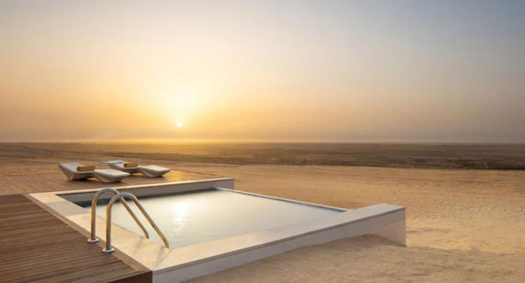 anantara sahara tozeur desert view from villa private pool