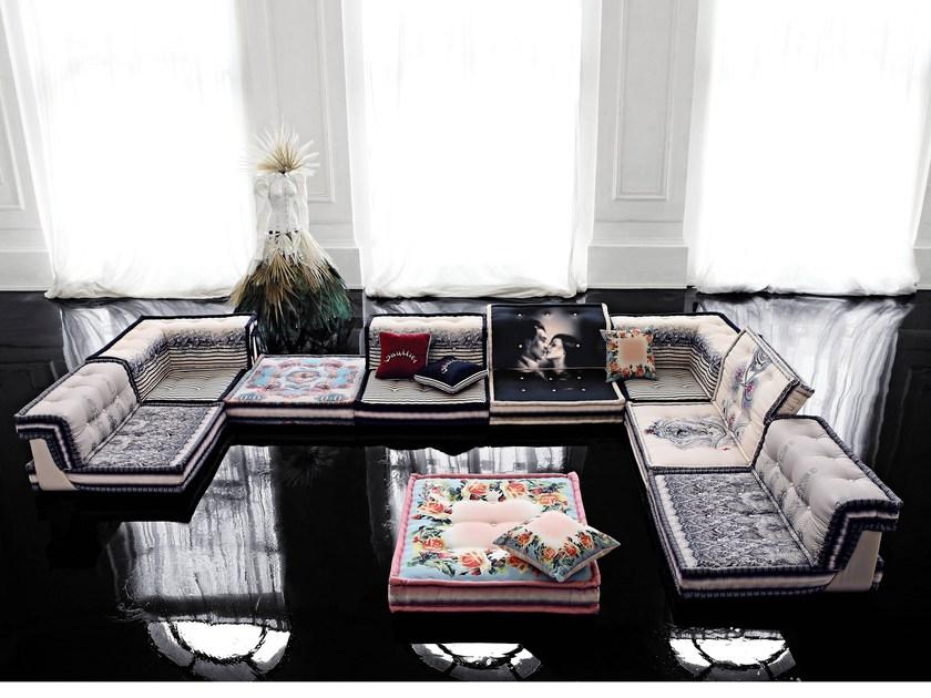 Mah Jong Composition Couture Jean Paul Gaultier modular floor cushion sofa designed by Hans Hopfer for Roche Bobois