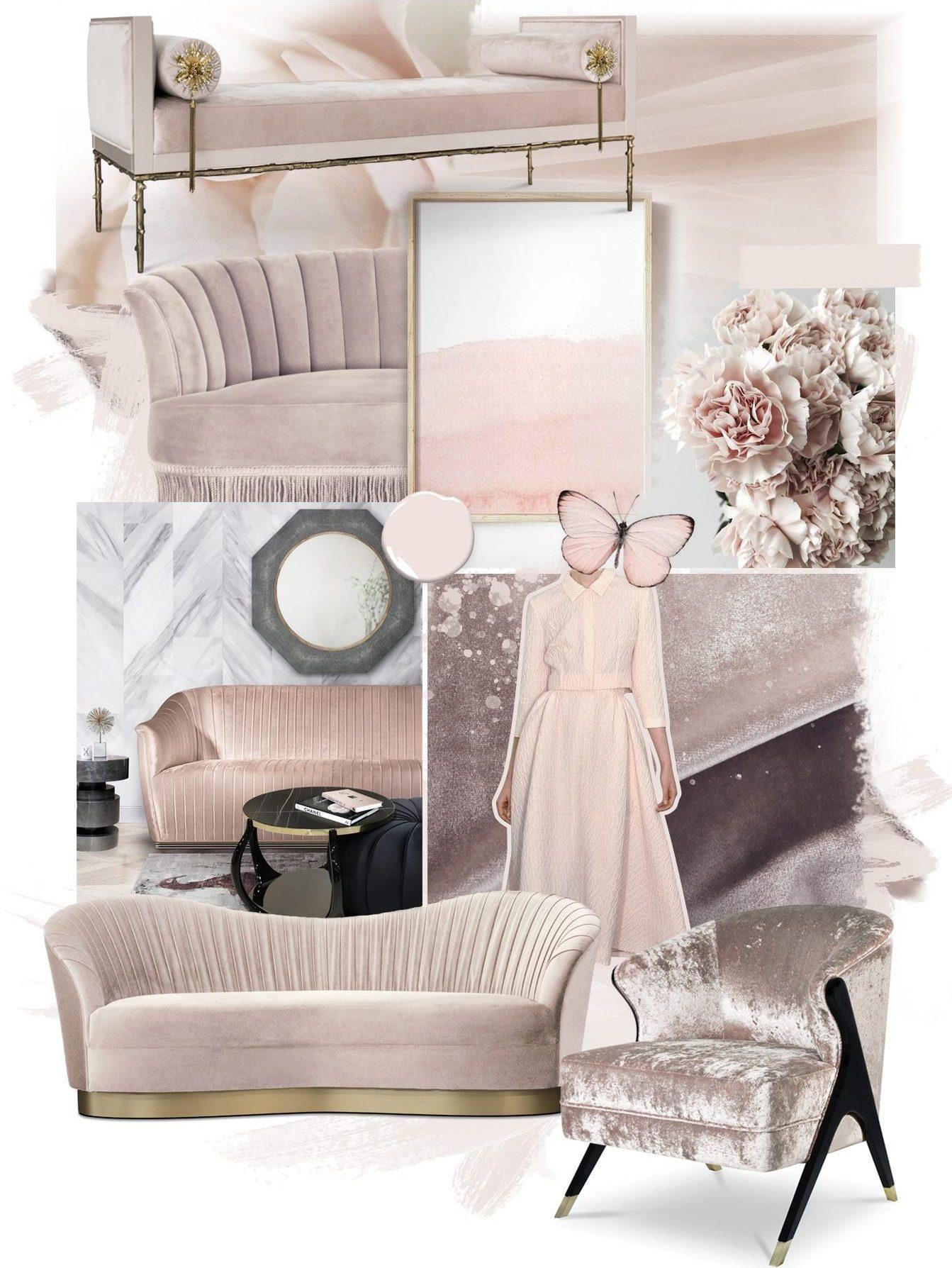 soft pink baby pink luxury feminine decor furniture