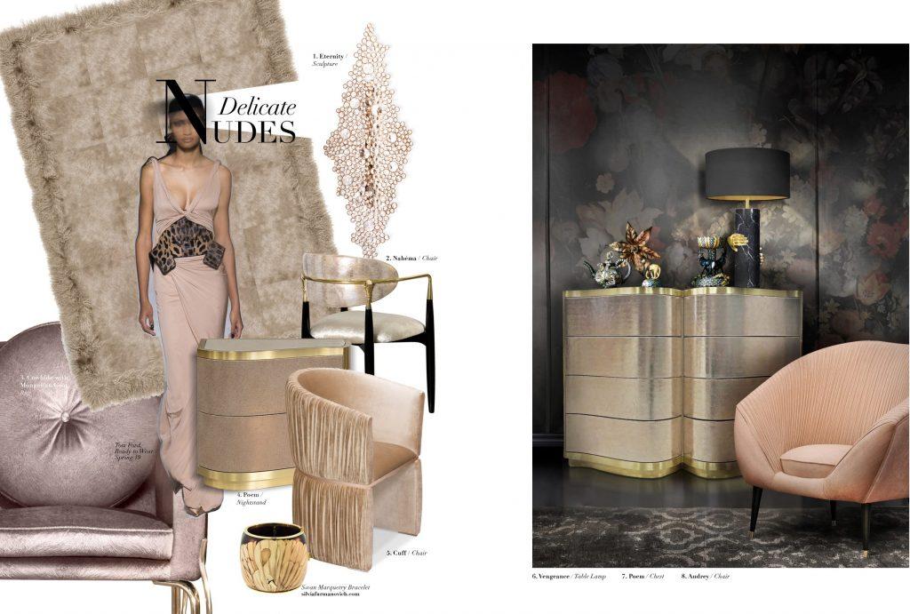 delicate nude tones koket luxury decor feminine sexy vibes
