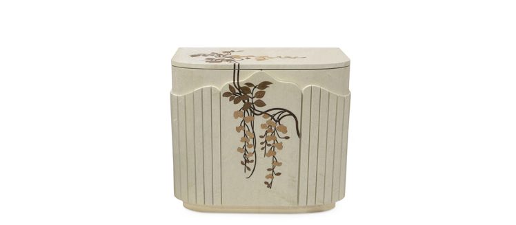 fleur nightstand koket wood inlay nature inspired furniture