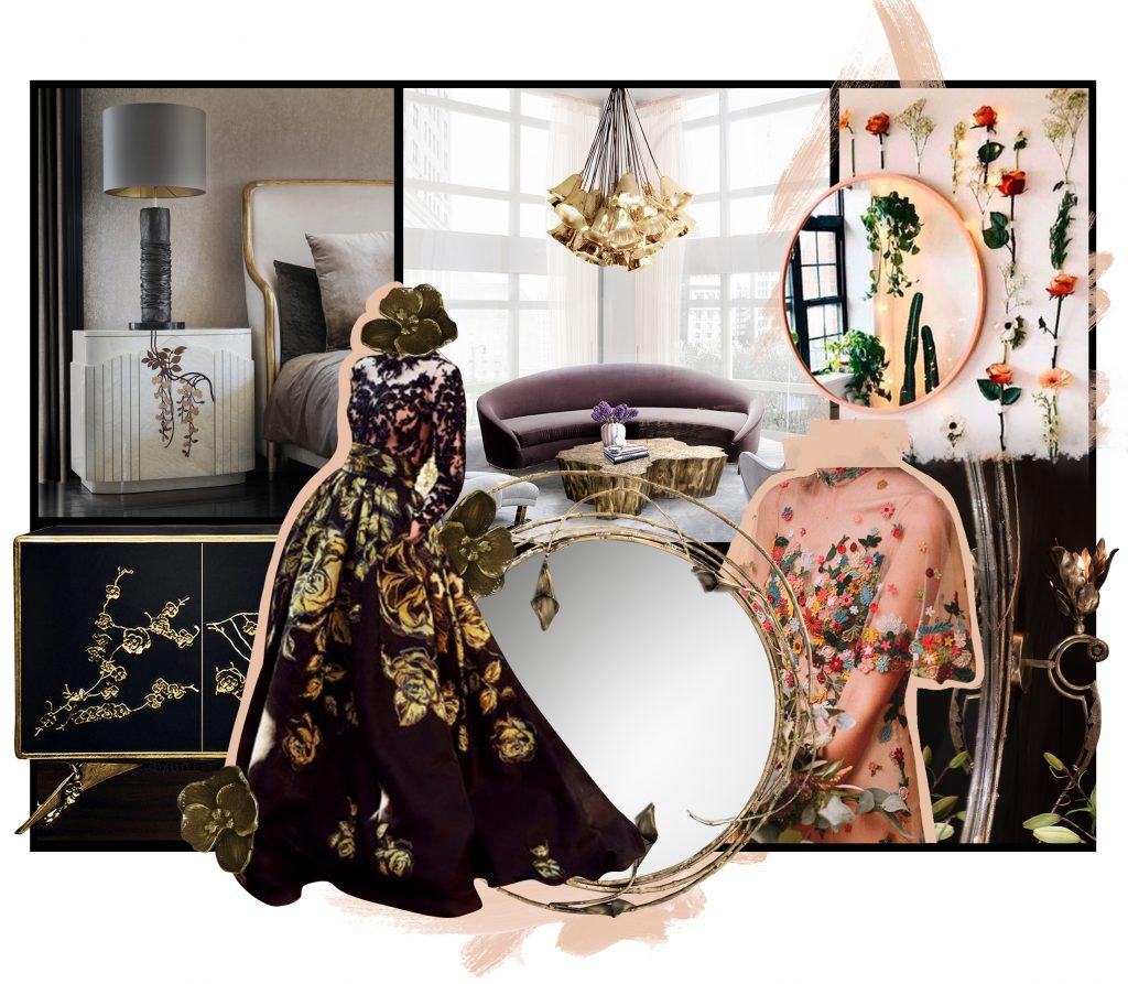 floral inspiration feminine vibes koket flower furniture lighting