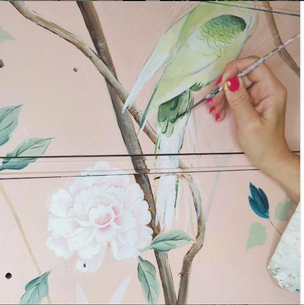 Handpainted dress by Cecelia Claire