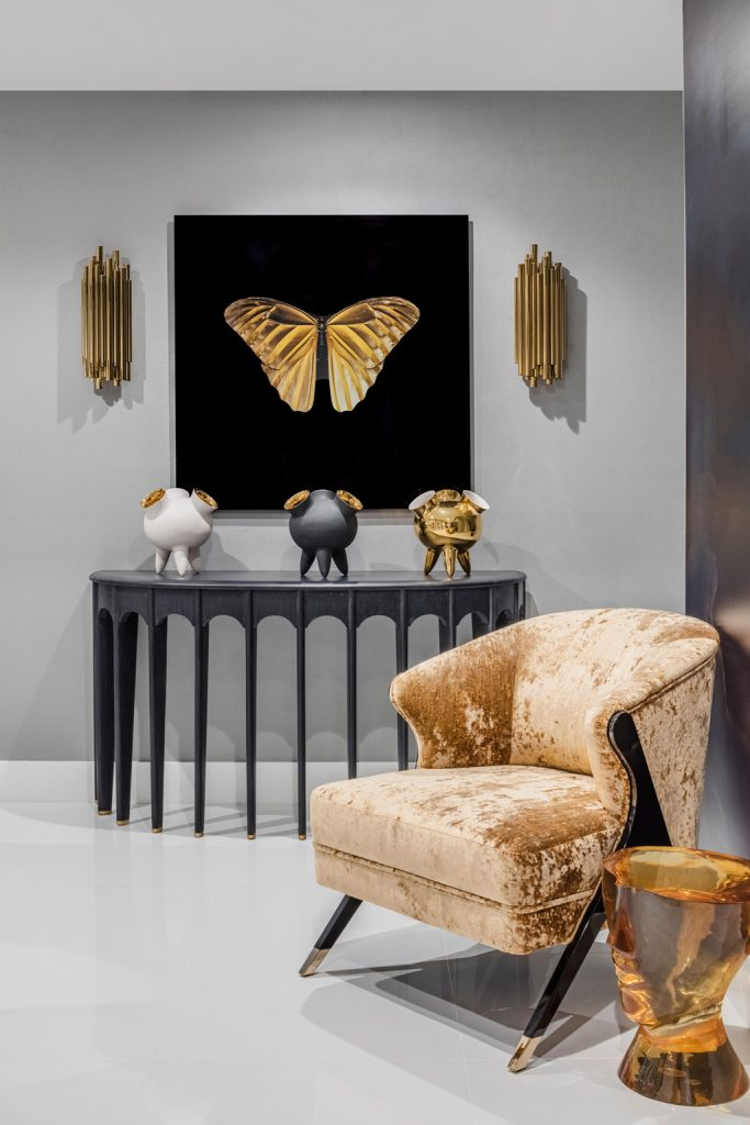 Photo by Kris Tamburello of a condo designed by by Laure Nell Interiors featuring the NAMOI Chair by KOKET
