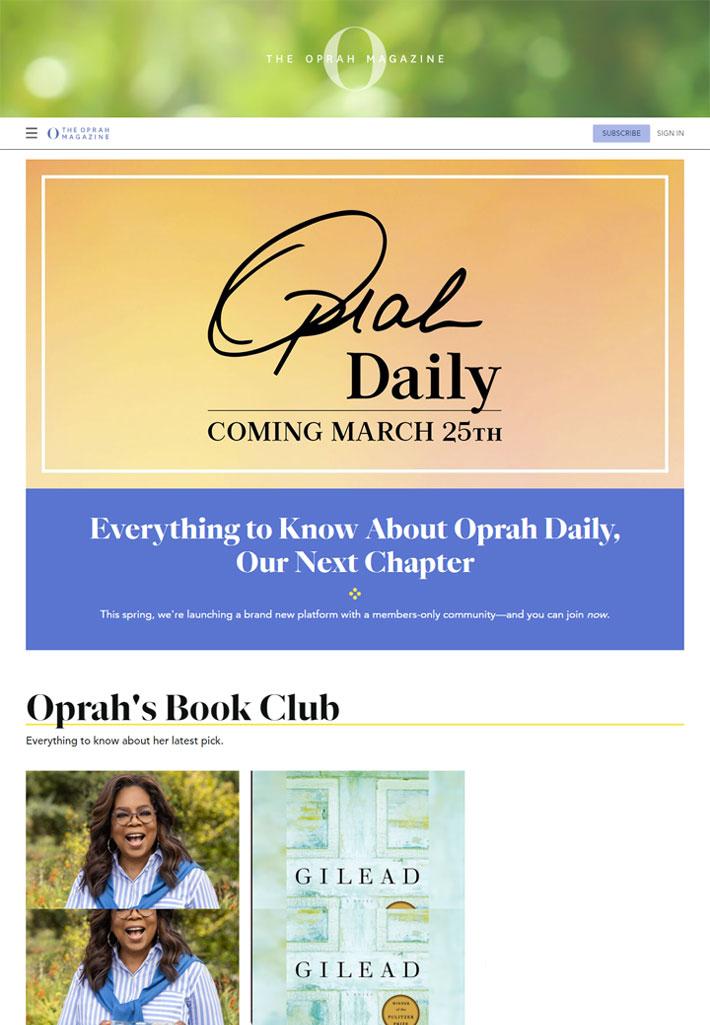 o the oprah magazine daily