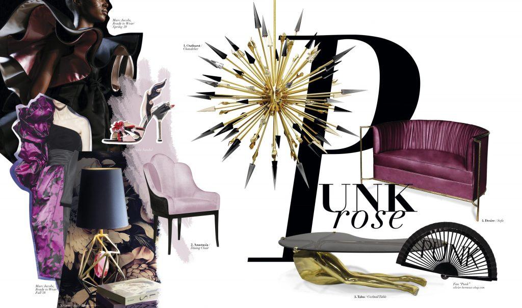 punk rose koket feminine vibes decor in pink and purple