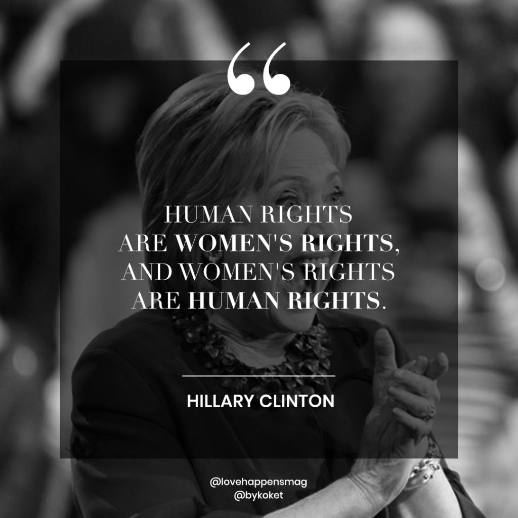 women empowerment quotes hillary clinton - human rights are women's rights, and women's rights are human rights