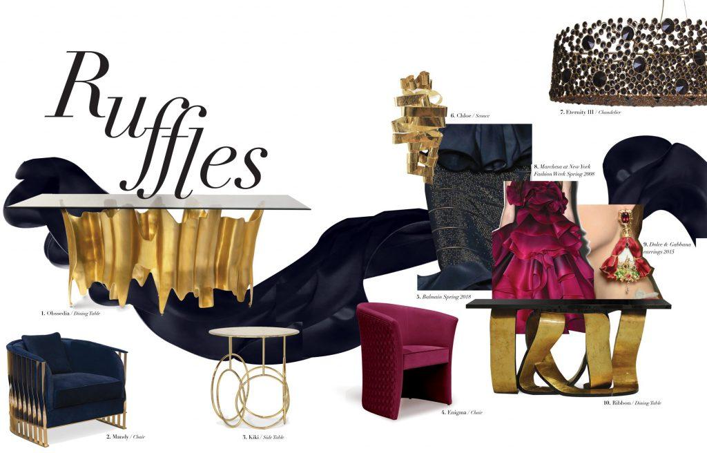 ruffles and frills koket interior decor